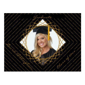 Geometric Shape Graduation Photo Save The Date Postcard