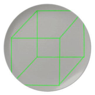 Geometric Shape Plate (Green)