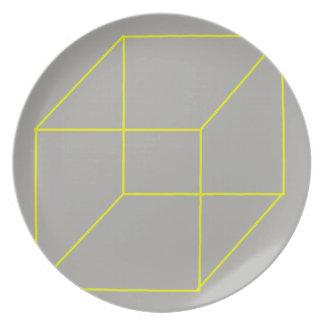 Geometric Shape Plate (Yellow)