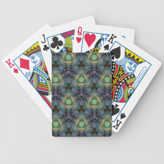Geometric Shaped Kaleidoscope Pattern Bicycle Playing Cards