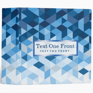 Geometric Shapes Blue Tones Vinyl Binder