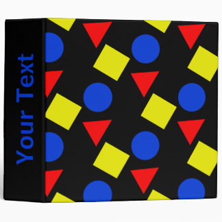 Geometric Shapes in Primary Colors Binder