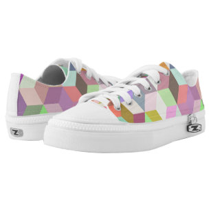 Geometric Shapes Low-Top Sneakers