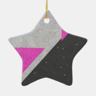 Geometric Shapes Pattern Ceramic Star Ornament