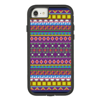 Geometric shapes with a bit royalty of purple Case-Mate tough extreme iPhone 8/7 case