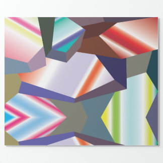 Geometric shapes wrapping paper