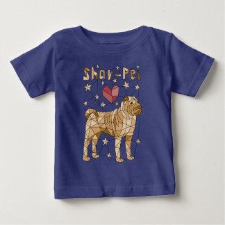 Geometric Shar Pei Baby T-Shirt