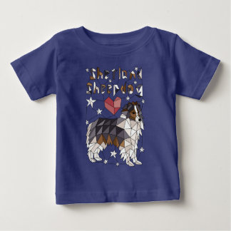 Geometric Shetland Sheepdog Baby T-Shirt