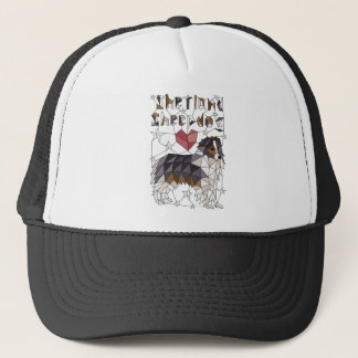 Geometric Shetland Sheepdog Trucker Hat