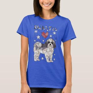 Geometric Shih Tzu T-Shirt