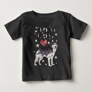 Geometric Siberian Husky Baby T-Shirt