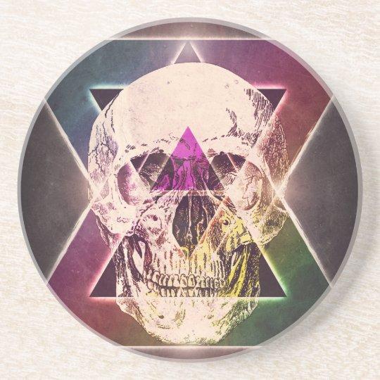 Geometric skull coaster
