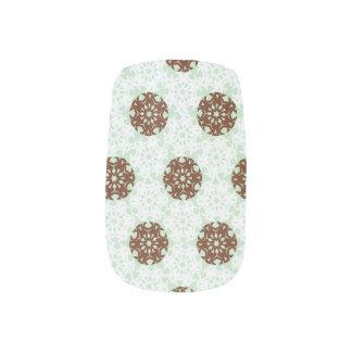 Geometric Snowflakes Minx Nail Art