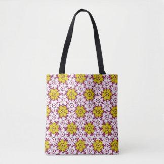 Geometric Snowflakes V2 Tote Bag