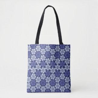 Geometric Snowflakes V6 Tote Bag