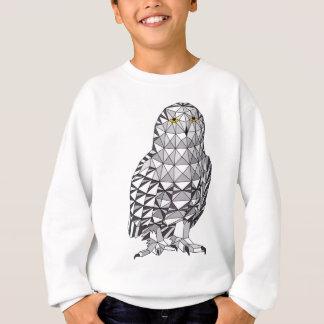 Geometric Snowy Owl Sweatshirt