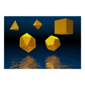 Geometric Solids Poster