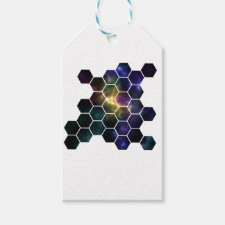 geometric space gift tags