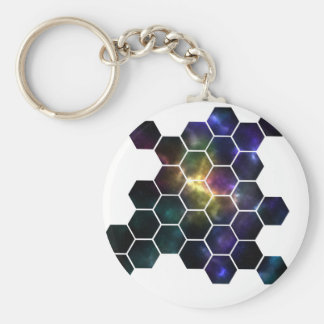 geometric space keychain