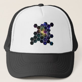 geometric space trucker hat