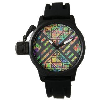 Geometric Splatter Mens Watch