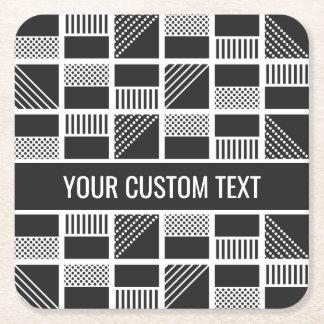 Geometric Squares custom text coasters