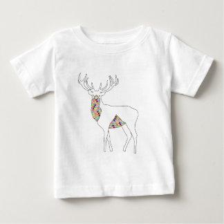 Geometric Stag Pastel Baby T-Shirt