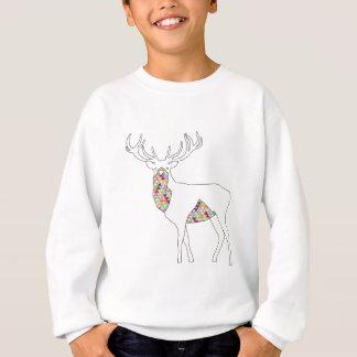 Geometric Stag Pastel Sweatshirt