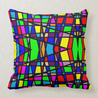 Geometric Stained Glass Pattern Throw Throw Pillow