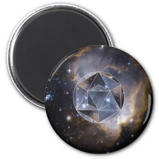 Geometric star cluster 2 inch round magnet