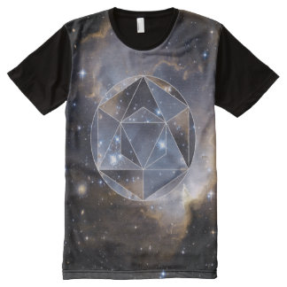 Geometric star cluster all over t-shirt print