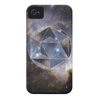 Geometric star cluster iPhone 4 cases