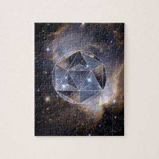 Geometric star cluster jigsaw puzzle