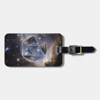 Geometric star cluster luggage tag