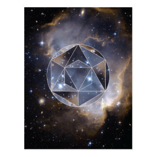 Geometric star cluster postcard
