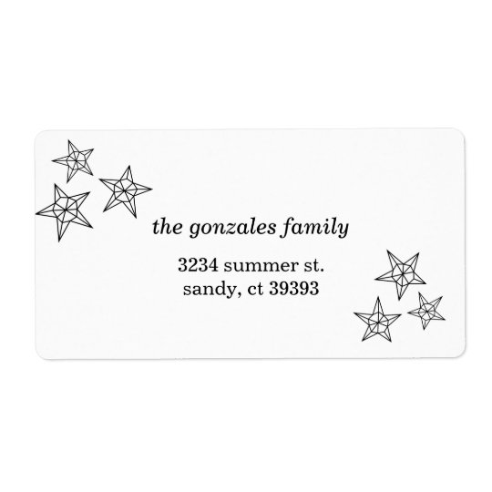 Geometric Star Mailing Label Shipping Label
