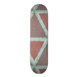 Geometric Stone Wall Skate Board