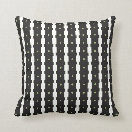 Geometric Stripe  Throw Pillow