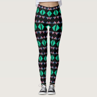 geometric stripes bold print leggings