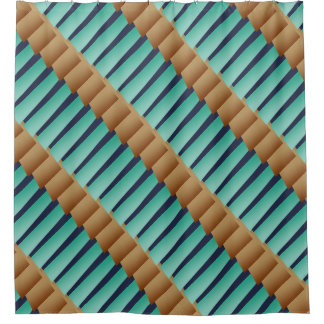 Geometric Stripes/Turquoise Tan & Blue