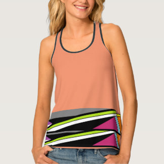 geometric strips tank top