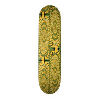 Geometric sunflowers skateboard deck