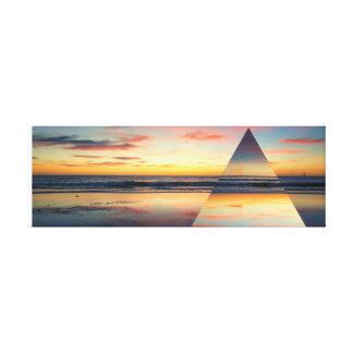 Geometric Sunset Glenelg Ocean Print Beach Dusk