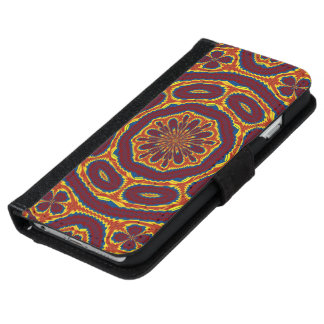 Geometric tapestry iPhone 6 wallet case