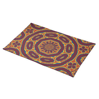 Geometric tapestry placemat