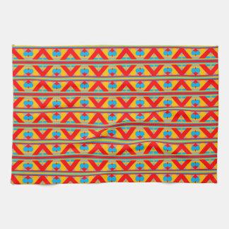 geometric tea towel