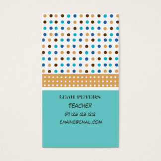 Geometric Teacher Counselor Cute and Friendly Business Card