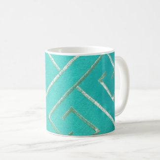 Geometric Teal Coffee Mug
