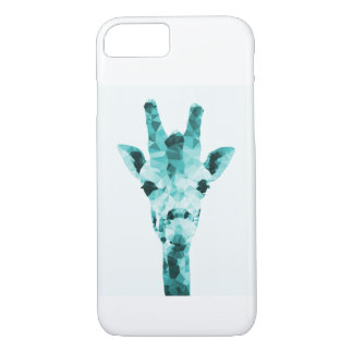 Geometric Teal Giraffe Phone Case