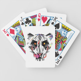 Geometric Tiger Bicycle Playing Cards